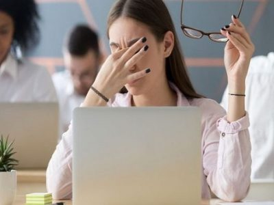 What is computer eye strain