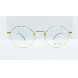 Gold round eyeglasses by FCUK