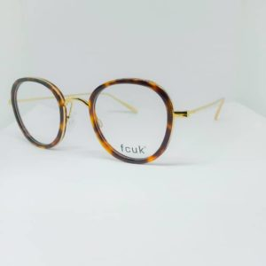 gold round eyeglasses